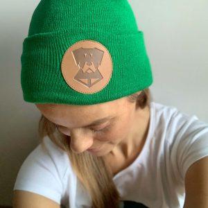 zielona beanie