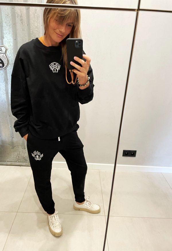 damska bluza dresowa czarna