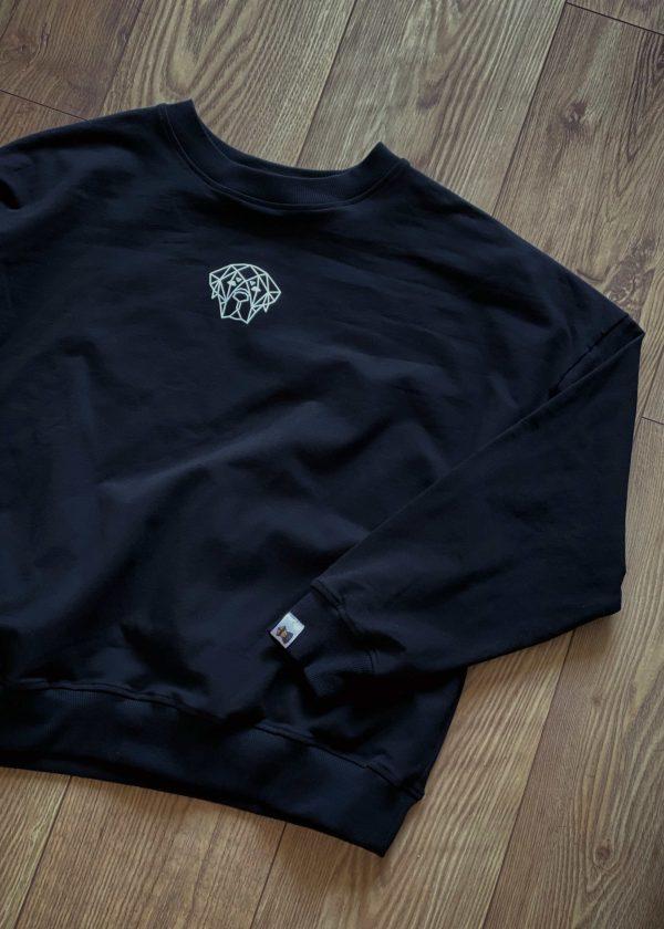 czarna bluza dresowa